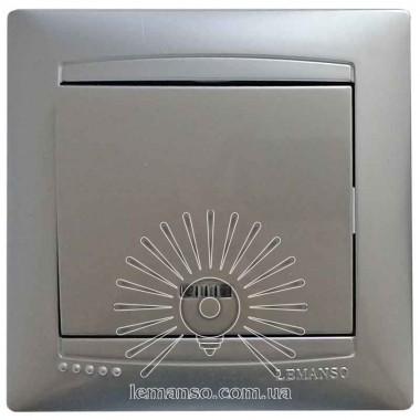 Выключатель 1-й + LED подсветка  LEMANSO Сакура серебро  LMR1304 описание, отзывы, характеристики