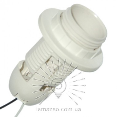 Патрон LEMANSO Е27 пластиковый / резьба+кольцо / провода 15 см / LM2513 (LM101) описание, отзывы, характеристики