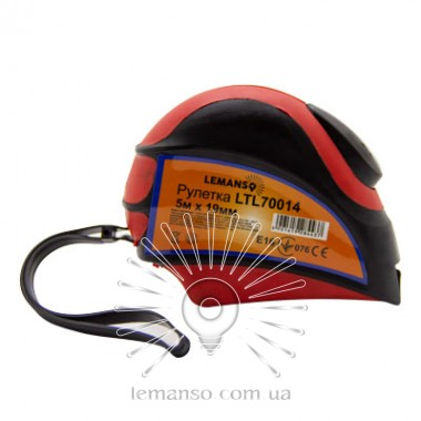 Рулетка LEMANSO 5м x 19мм LTL70014 красно-чёрная описание, отзывы, характеристики