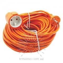 Подовжувач 1 гніздо 16A 30м без заземл. Lemanso / LMK070 помаранч.