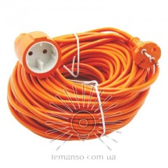 Удлинитель 1 гнездо 16A 30м без заземл. Lemanso / LMK070 оранж.