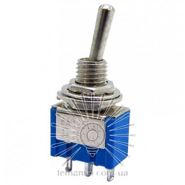 Тумблер Lemanso LSW28 3pin малый 3 полож. с фикс. / MTS-103 описание, отзывы, характеристики