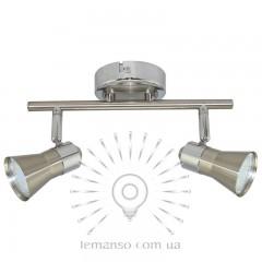 Спот Lemanso ST186-2 двойной GU10 / 50W матовый хром