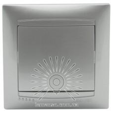 Выключатель 1-й проходной LEMANSO Сакура серебро  LMR1302