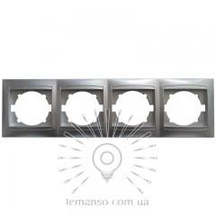 Рамка 4-я LEMANSO Сакура срібло горизонтальна LMR1313