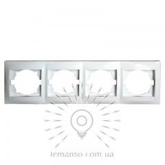 Рамка 4-я LEMANSO Сакура белая горизонтальная  LMR1013