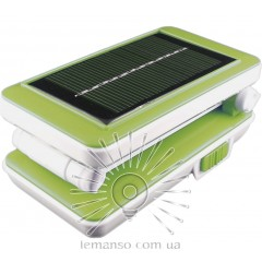 Базука Lemanso 5W 192LM 230V салатовая + солнечная батарея / LMB21