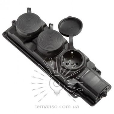Колодка 3 гнезда с заземлением каучуковая Lemanso / LMA062 описание, отзывы, характеристики