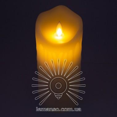 Свеча LED Lemanso 75*175мм 2700K 3xAAA (нет в компл.) IP20 / LM36004 (+пульт, еф. пламя) описание, отзывы, характеристики