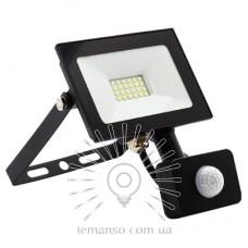 Прожектор LED 20w 6500K IP65 1600LM LEMANSO 175-265V с датчиком чёрный/ LMPS27