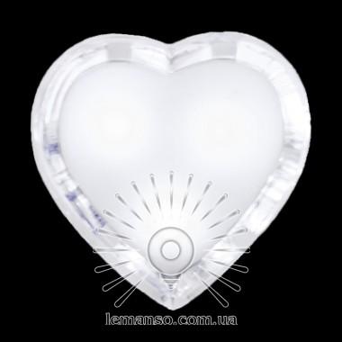 Ночник Lemanso Сердце белый 3 LED / NL130 описание, отзывы, характеристики