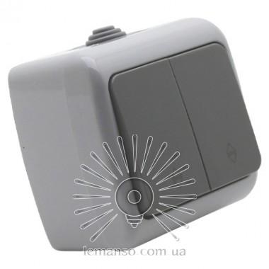 Выключатель накладной 2-й проходной LEMANSO Немо серый LMR2405 описание, отзывы, характеристики