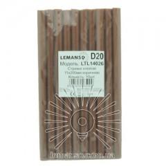 Стержни клеевые 10шт пачка (цена за пачку) Lemanso 11x200мм корчневые LTL14026