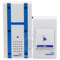 Звонок Lemanso 230V LDB48 белый с синим