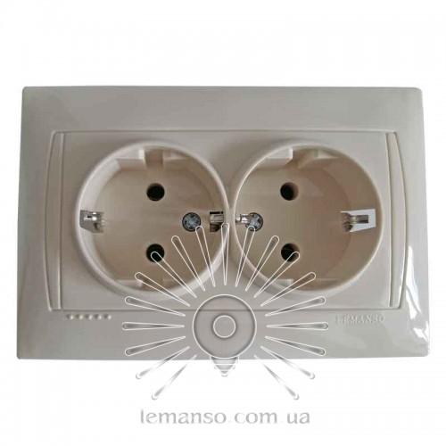 Розетка керамика 2-я с заземлением LEMANSO Сакура крем LMR1118 описание 8260ee09d8d71