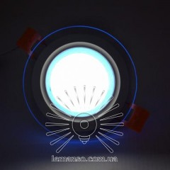 LED панель Сияние Lemanso 9W 720Lm 4500K + синий 85-265V / LM1037 круг + стекло