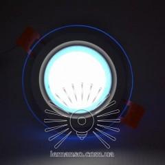 LED панель Сяйво Lemanso 9W 720Lm 4500K + синий 85-265V / LM1037 круг + стекло