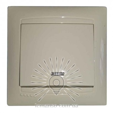 Выключатель 1-й + LED подсветка LEMANSO Сакура крем  LMR1104 описание, отзывы, характеристики