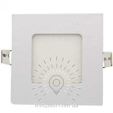LED панель Lemanso 3W 120LM 85-265V 4500K квадрат / LM1046 Комфорт описание, отзывы, характеристики