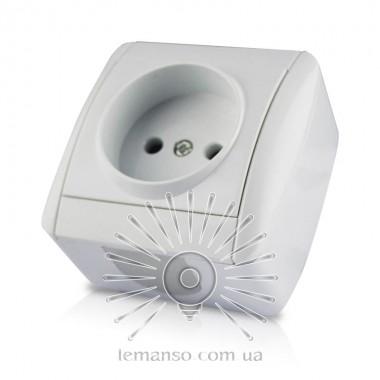 Розетка накладная 1-я LEMANSO Магнолия белая LMR2003 описание, отзывы, характеристики