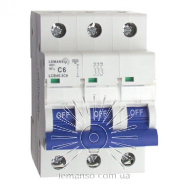 MCB Lemanso 4.5KA (тип С) 3п 06A  LCB45 описание, отзывы, характеристики