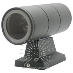 Подсветка для стены Lemanso 2*MR16 макс.15Вт (только LED) IP65 серая, 1м кабеля/ LM1104
