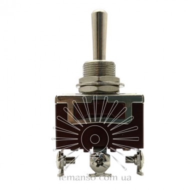 Тумблер Lemanso LSW24 3pin + винты 3 полож. без фикс. / KN3 C-123 описание, отзывы, характеристики