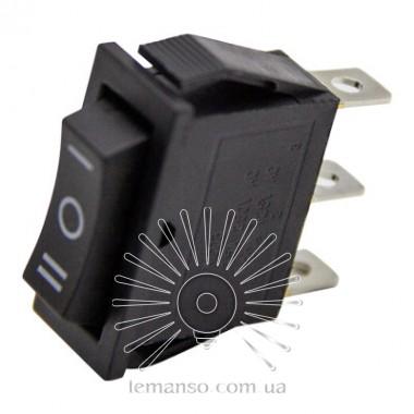 Переключатель  Lemanso  LSW18 узкий чёрный 3 пролож. с фикс./ KCD3-103 описание, отзывы, характеристики