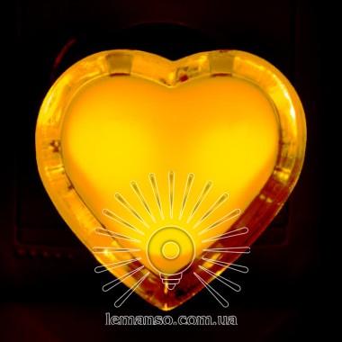 Ночник Lemanso Сердце жёлтый 3 LED / NL132 описание, отзывы, характеристики