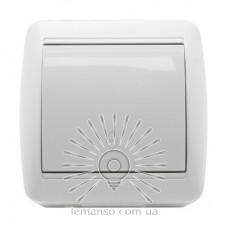 Выключатель 1-й проходной LEMANSO Магнолия белый  LMR2012