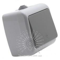 Выключатель накладной 1-й проходной LEMANSO Немо серый LMR2404