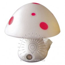 Nightlight Lemanso Mushroom 3 LED 6500K with sensor white / NL16
