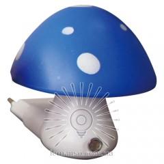 Ночник Lemanso Гриб 3 LED 6500K с сенсором синий / NL16