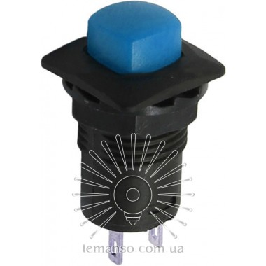 Кнопка Lemanso LSW11 квадрат синяя без фикс.OFF-(ON)/ DS-225 описание, отзывы, характеристики