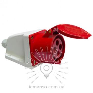 Гнездо стационарное (ГС) Lemanso 16А 4п (3п+н) 380-415V IP44 красное / описание, отзывы, характеристики
